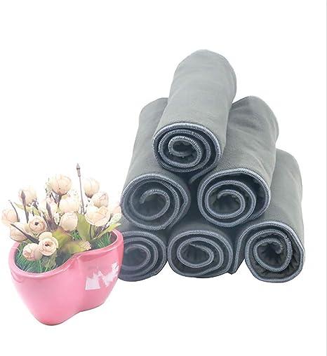 Jolie Diaper Insertos Absorbentes de carbón de bambú de 5 Capas Reutilizables para Adultos Pañales de Tela Inserta Booster (Pack de 6): Amazon.es: Deportes y aire libre