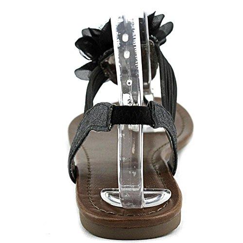 Material Girl Shilo, Flache Sandalen Frauen, Split toe, besonderer Anlass Black