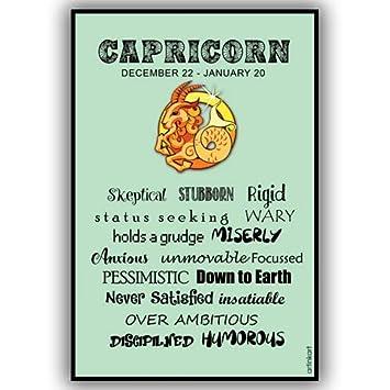 artinkart poster capricorn traits astrology poster for room home