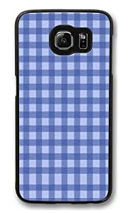Blue Gyrosigma lattice PC Case Cover for Samsung S6 and Samsung Galaxy S6 Black hjbrhga1544