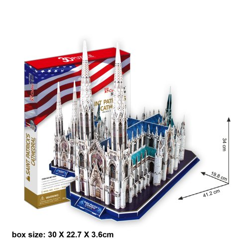 St.Patricks Cathedral (New York) 3D Puzzle rompecabezas: Amazon.es: Juguetes y juegos