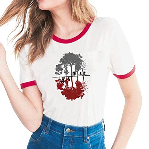 shirt Primavera Lovers Slim Things Di Girocollo Proposito Magliette A Con Manica 18 Corta modello Stile Morbido Confortevole Stranger Tema Lettera T Yuanu Estate Stampa wvdq50w