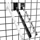 7 Ball Gridwall Waterfall - 18'' L Square Tube Faceout Hook for Grid Panels - Black - 10 Pack