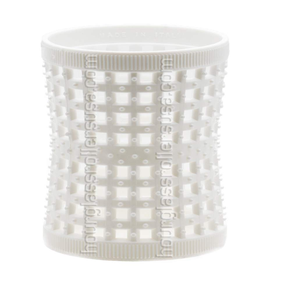 White Hourglass Mesh Tension Rollers - 1.85inches (47mm) (6 Rollers per pack) by Hourglass Rollers