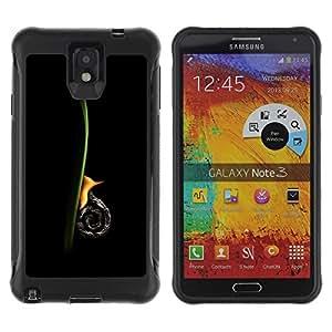 Suave Caso Carcasa de Caucho Funda para Samsung Note 3 Snail Vertical / JUSTGO PHONE PROTECTOR