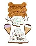 Cheap Sandy Paws Gourmet Happy Birthday Dog Treats Gift Bag Organic Decorated Cookies for Dogs