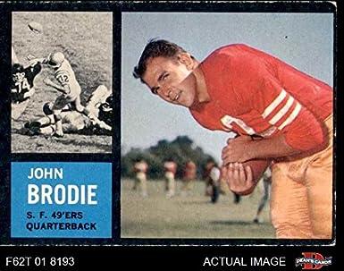 70e673b4f 1962 Topps   152 John Brodie San Francisco 49ers (Football Card) Dean s  Cards 4