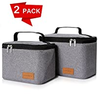 2 Packs Lifewit Insulated Lunch Box Lunch Bag