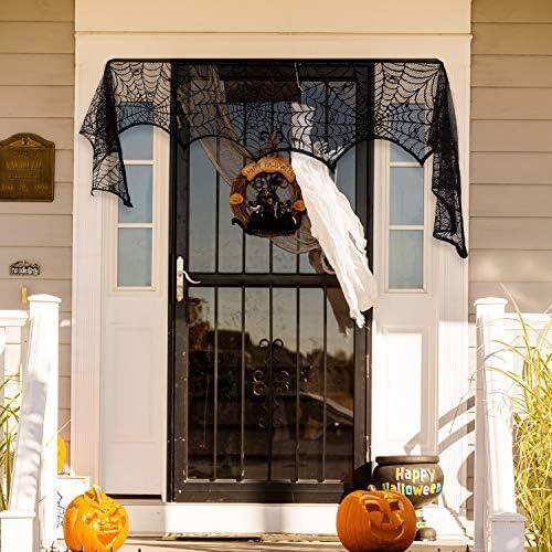 51g4IXpRO8L. AC  - Black Halloween Garland Mantle Decorations Indoor