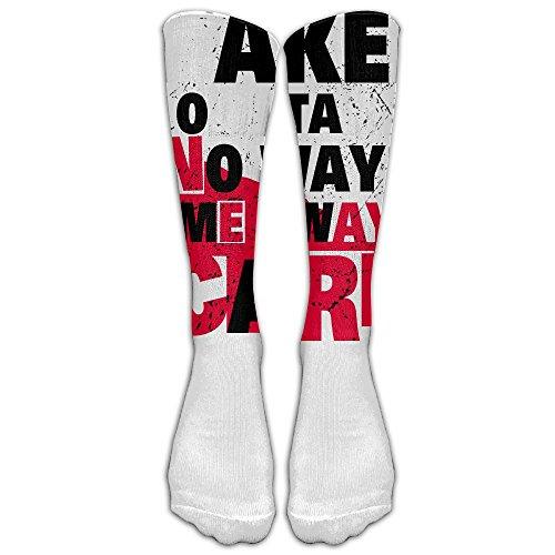 Unisex Knee High Long Socks Take Me Away No Way Out Take Care Sport Wrist Socks ZHONGJIAN from ZHONGJIAN