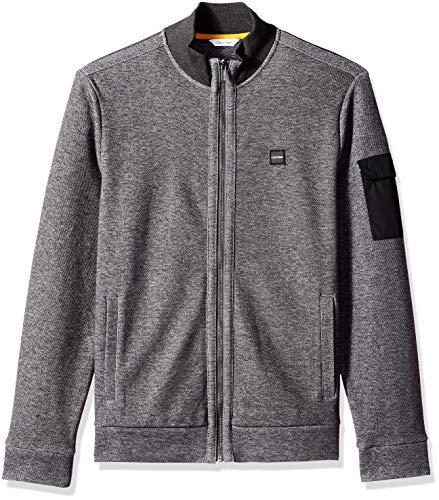 Gunmetal Mens Sweater (Calvin Klein Men's Lightweight Zip Up Weekend Layer Sweater, Gunmetal Heather Medium)