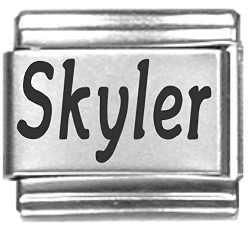 Skyler Laser Name Italian Charm Link