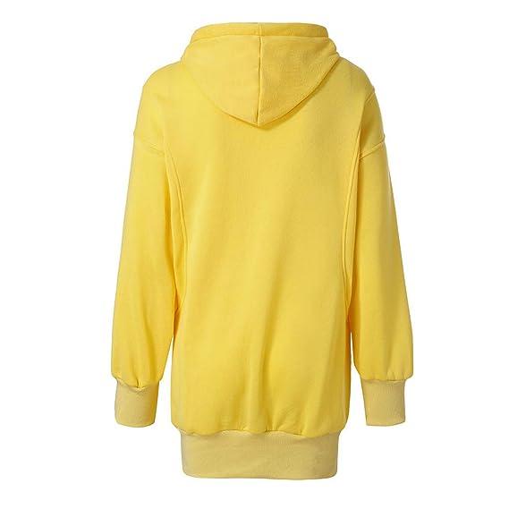 Rovinci☆ Sudadera para Mujer Moda de Manga Larga Sudadera con Capucha cómoda Color sólido Ropa Jersey Abrigo Outwear: Amazon.es: Ropa y accesorios