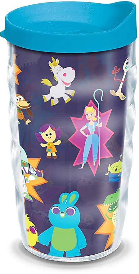 ae7ca4616ef Tervis 1319847 Disney/Pixar - Toy Story 4 Collage Insulated Tumbler with  Wrap and Lid, 10 oz, Clear