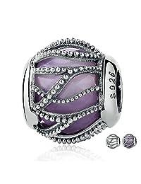 PAHALA 925 Strling Silver Radiance 2 Colors Crystals Charms Pendant Fit Bracelets Necklace