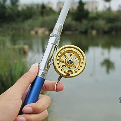 KINGMAK Fly reel With brake handle for Pen Rods