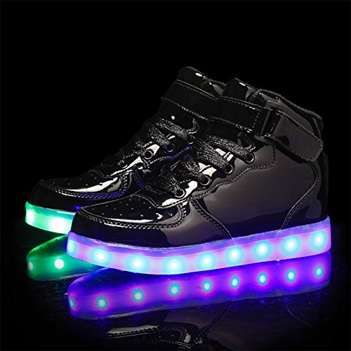 Noir ByBetty USB Lumineuse LED Basket Chaussures 43 pour LED Homme Adulte Femme Rechargeable S4xwxZnRO