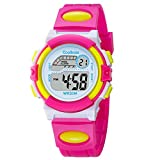Casual Sport Students Children Boys Girls Waterproof LED Digital Multifunction Quartz Watch Rubber Strap