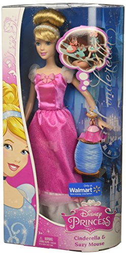 (Disney Princess Cinderella Doll and Suzy Mouse Pink Exclusive Disney Princess Sparkle Doll Giftset)