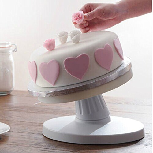 Price comparison product image Adjustable Tiltable Cake Decorating Turntable Revolving Cake Stand