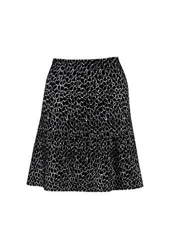 Alaia Women's Black & White Wool Blend Knit Patterned Flared Skirt SZ 38