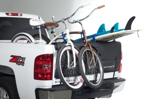 "Softride 26457 A Pick Up Shuttle Pad Black 61"" Tailgate Bike Rack for Bikes, Surfboards or SUP"