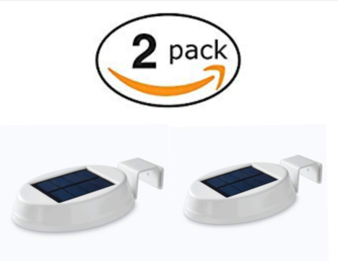 Mainstay Gutter Light LED Solar Powered 20 Lumens 2-Pack Mainstays