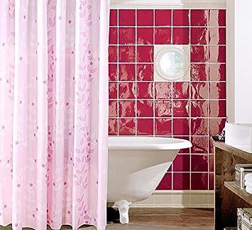 Peiwenin Dusche Vorhang Badezimmer Rosa Dicke Wasserdichte