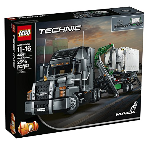 51g4KmSdUoL - LEGO Technic Mack Anthem 42078 Semi Truck Building Kit and Engineering Toy for Kids and Teenagers, Top Gifts for  Boys (2595 Piece)