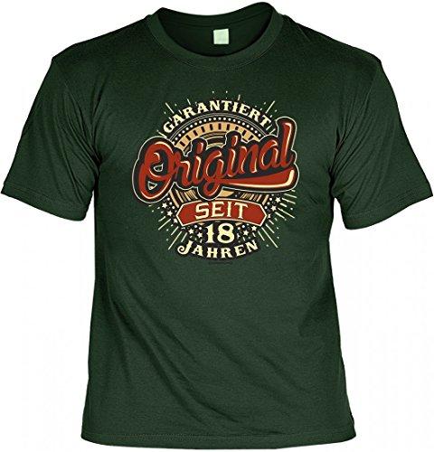 T-Shirt Funshirt als Geburtstags-Geschenk - Original seit 18 Jahren - Spruchshirt als Geschenk zum 18. Geburtstag oder zur Volljährigkeit