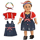 """American Girl Doll Clothes and Accessories Pajamas Set 18"""" American Girl Doll Clothes for Christmas 18 Inch Dolls American Girls Dolls Clothing Set , My Life Doll Baby Journey Girls Dolls Costume"""