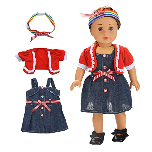 American girl doll clothes 18 inch and accessories pajamas 3pcs Mini Skirt Set,matching girl clothes clothing set Doll skirt Closet,our generation doll clothes patterns storage (Mini Doll Pattern)