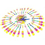 Hecentur 10PCS Amazing Led Light Arrow Rocket Helicopter Flying Toy Party Fun Gift Elastic, Looking Beautiful When It Flies in the Dark