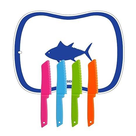 Amazon.com: Kimiyoo Juego de cuchillos de cocina de plástico ...