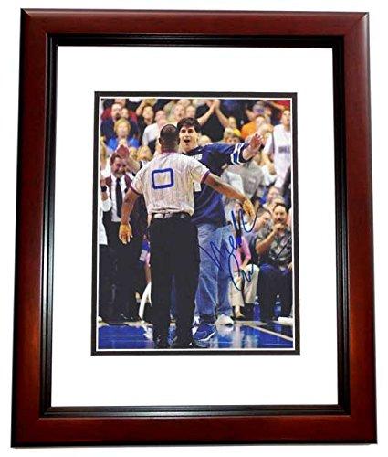 Cuban Mahogany - Mark Cuban Signed - Autographed Dallas Mavericks 8x10 inch Photo MAHOGANY CUSTOM FRAME - Guaranteed to pass PSA or JSA - 2011 NBA Champion
