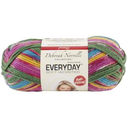 Premier Yarns Deborah Norville Collection Everyday Soft Worsted Prints Yarn: Parrot