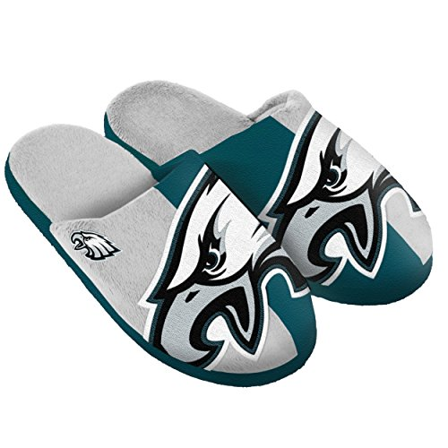 (Philadelphia Eagles Split Color Slide Slipper Medium)