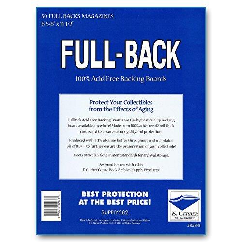Full-Back Magazine Backing Boards 8 5/8