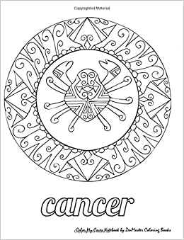 Amazon.com: Color My Cover Notebook (Cancer): Therapeutic ...