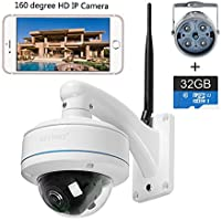 HD IP WIFI panoramic camera 360°range outdoor camera Onvif built-in 32GBTF card two-way voice AP connection 2.4G WIFI 960P 1080P surveillance camera