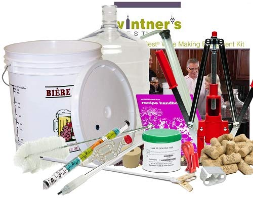 Deluxe Vintner's Best Wine Making Equipment Kit w/plastic carboy L.D. Carlson