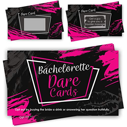 Novelty Bachelorette Party Supplies (Bachelorette Party Scratch Off Dare Cards Games - 36 Funny & Naughty Dares Cards as Ultimate Bachelorette Party Supplies &)
