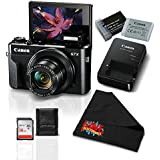 Canon PowerShot G7 X Mark II Digital Camera w/1 Inch CMOS Sensor and Tilt LCD Screen Touchscreen- Essential Bundle (1066C001)