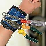 LeftPro dd039 Magnetic Wristband Premium Quality Super Strong Magnets Holds Screws Nails Drill Bits - Best DIY Magnet Wristband Tool Belt Cuff Bracelet (Blue)
