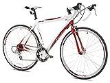 Giordano Libero 1.6 Road Bike, 700c, White/Red, Small
