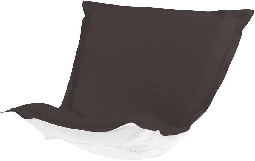 Howard Elliott Replacement Slipcover Exclusively Made for Howard Elliott Puff Chair Cushion, 100% Sunbrella Acrylic Fabric (Cushion Not Included), Seascape Charcoal