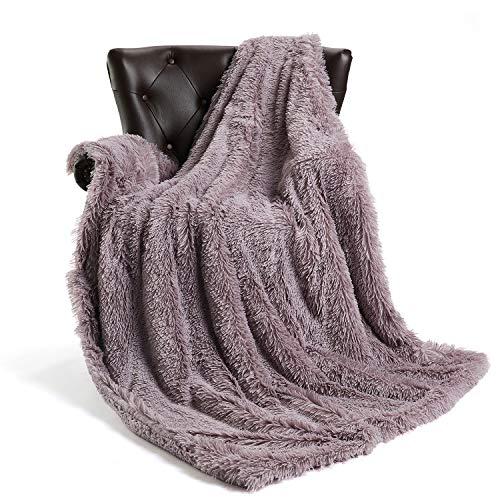- FFLMYUHUL I U Luxury Super Soft Microplush Velvet Blanket Soft Plush Reversible Throw Blanket for Bedroom Light Purple
