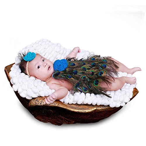 JEANSWSB Unisex Baby Girls Boys Cute Peacock Knitted Dress Photo Prop With (Peacocks Halloween Outfits)