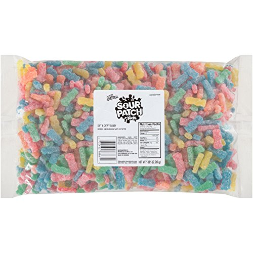 Sour Patch Kids Soft and Chewy Candy, Assorted, 5 Pound Bulk -