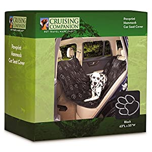 Cruising Companion Hammock Car Seat Covers - Cushioned Car Seat Covers for Dogs, Camel 100